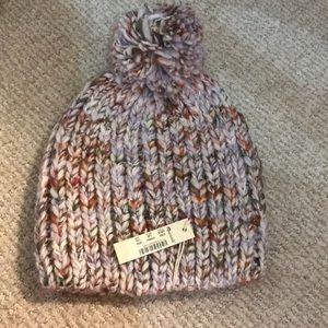 Madewell chunky knit Pom Pom beanie